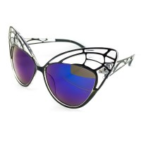 Occhiali da sole KISS® - CAT EYE mod. BUTTERFLY - donna fashion STRAVAGANTI vintage rockabilly