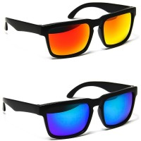 Sunglasses KISS® - mod. FROGSKINS SQUARE Mirrored Oakley-style - auto moto SPORT Racing man woman
