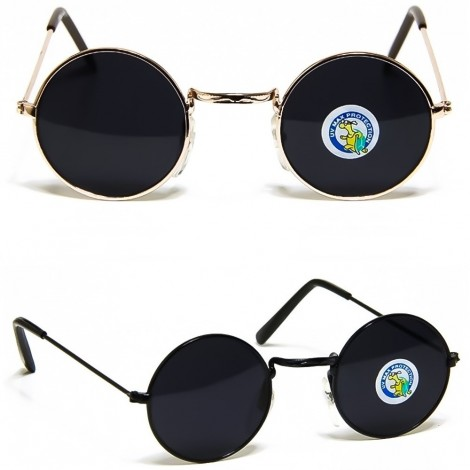 Sunglasses Hippie - style TEASHADES Small Size JOHN LENNON style round VINTAGE for man and woman