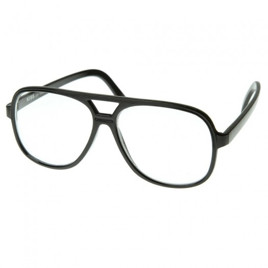 Glasses neutral KISS® - style BLOW-Johnny Depp - frame, with a view of CULT RETRO men women AVIATOR clear glasses