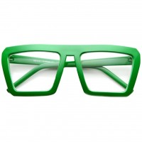 Glasses neutral KISS® - style CAZAL SMOOTH Hip-Hop - frame, with a REAR view Rapper Wayfarer clear glasses