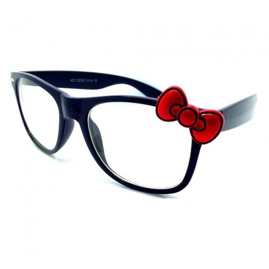 Glasses neutral KISS® - style HELLO KITTY - optical frame WOMAN cool fashion EXTRAVAGANT