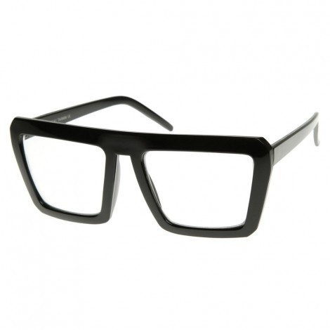 Neutral glasses KISS® - style CAZAL SMOOTH hip-hop - Rapper RETRO clear glasses optical frame