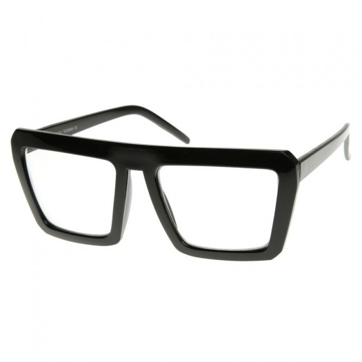 Occhiali neutri KISS® - stile CAZAL SMOOTH Hip-Hop - montatura da vista RETRO Rapper Wayfarer clear glasses