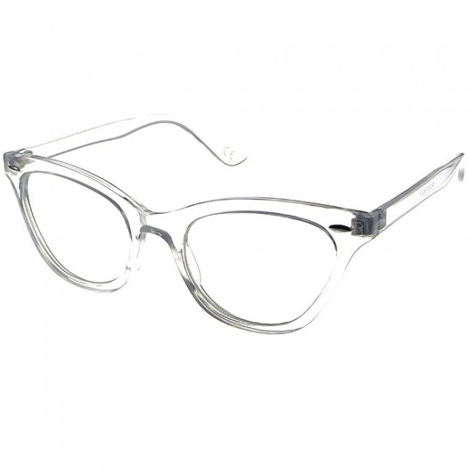 Occhiali neutri KISS® - mod. PIN-UP CAT EYE - montatura da vista DONNA RETRO clear glasses