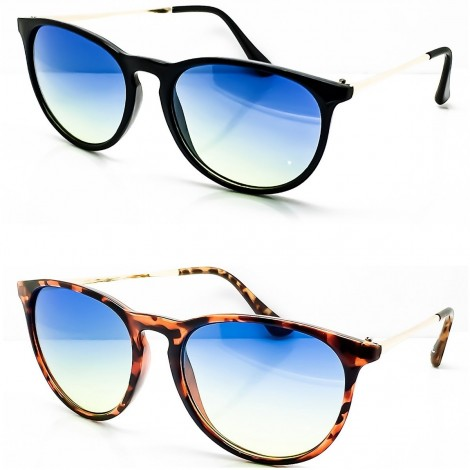 Occhiali da sole KISS® - stile MOSCOT mod. LIGHT Fumè Gradiente - VINTAGE Johnny Depp uomo donna CULT unisex