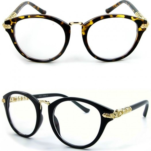 Occhiali neutri KISS® - PURE RETRO' LIMITED STYLE - montatura da vista TONDA donna uomo clear glasses