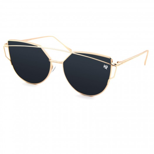 Sunglasses KISS® - MyRetro PREMIUM mod. NOTTING HILL - woman unisex SINUOUS BRIDGE glamour vintage