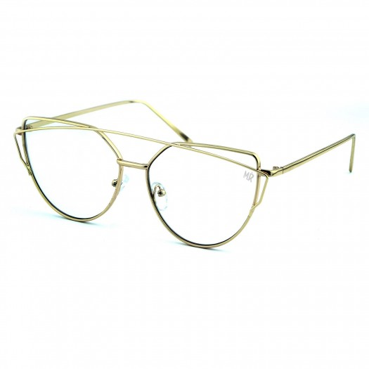 Glasses neutral MYRETRO® - mod. DOLLIS HILL - woman unisex SINUOUS BRIDGE optical frame VINTAGE