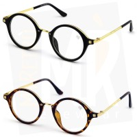 Glasses neutral MYRETRO® - mod. WATERLOO - man woman ROUND frame, with a view VINTAGE