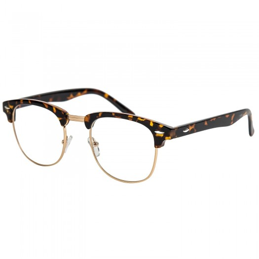 Glasses neutral KISS® - mod. CLUBMASTER Cult Retro eyewear VINTAGE men women unisex