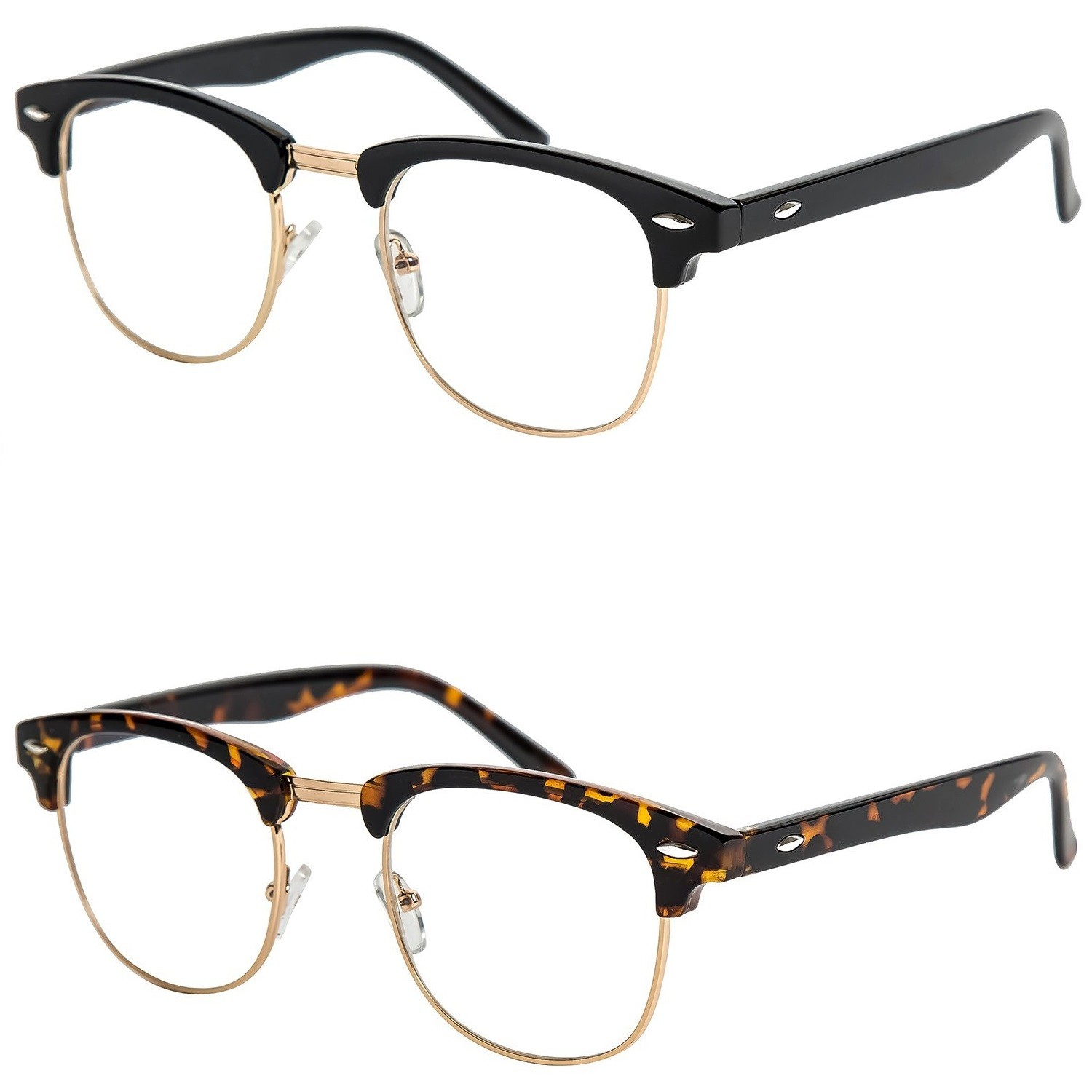Glasses neutral KISS® - mod. DANDY Cult - optical frame HIPSTER man woman NERD vintage unisex