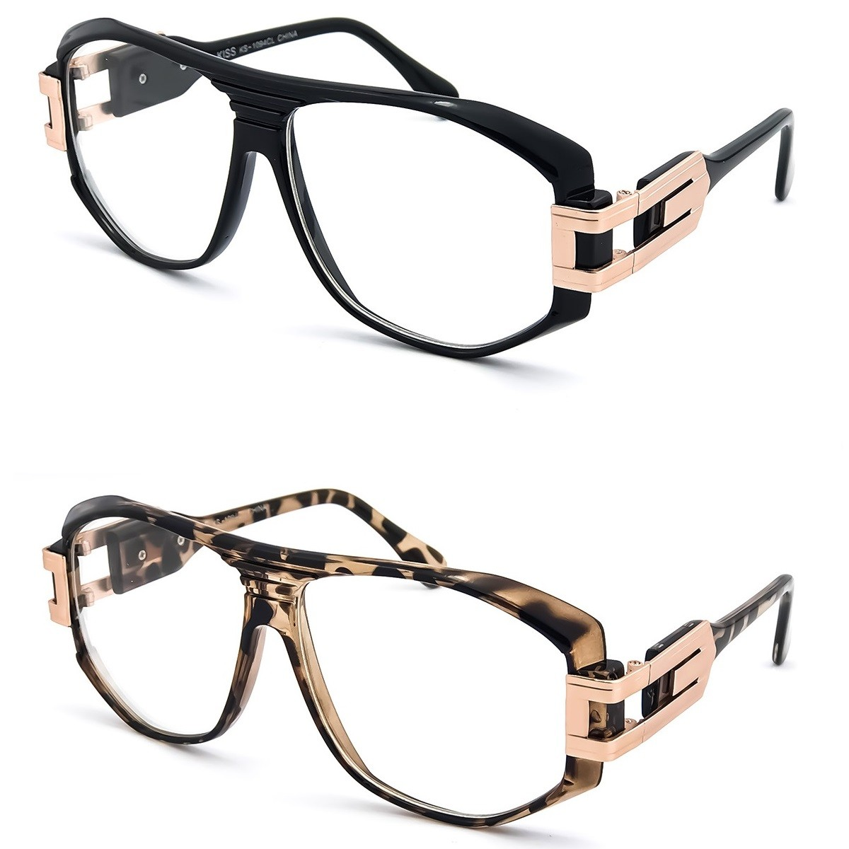 Glasses neutral KISS® - OLD SCHOOL mod. SPECIAL - optical frame HIP-HOP man woman VINTAGE