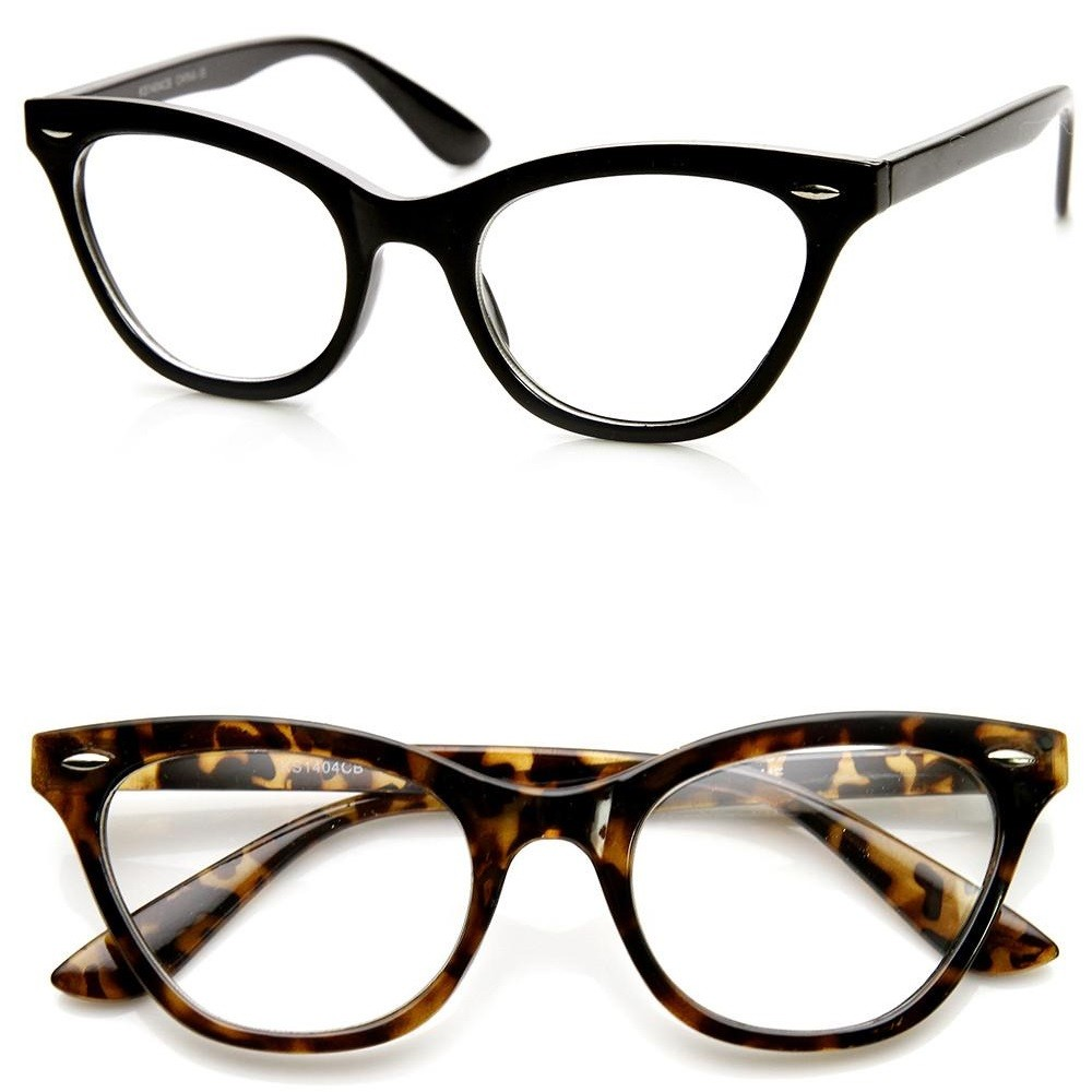 KISS neutrale bril® - CAT EYE mod. PIN-UP - vintage Rockabilly cult DONNA oogframe