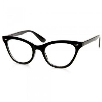 Neutral glasses KISS® - CAT EYE mod. PIN-UP - optical frame WOMAN cult Rockabilly vintage
