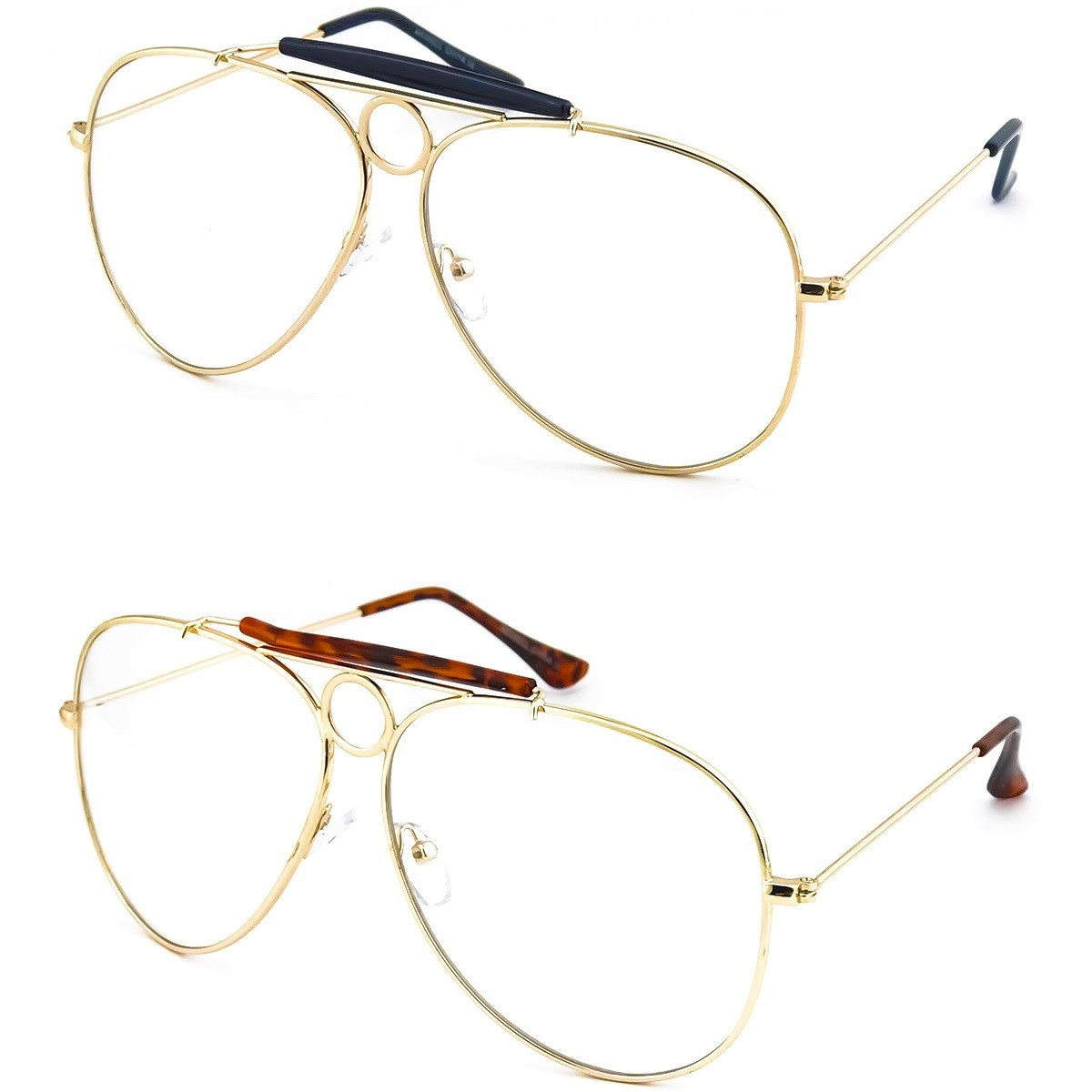 Glasses neutral KISS® - mod. FEAR AND loathing - optical frame JOHNNY DEPP man woman Style AVIATORE