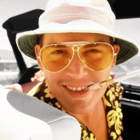 """Glasses neutral KISS® - AVIATOR mod. """"FEAR AND loathing"""" - frame, with a view of the CULT Johnny Depp man woman"""
