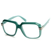 Glasses neutral KISS® - mod. OLD SCHOOL Classic - HIP-HOP optical frame VINTAGE man woman