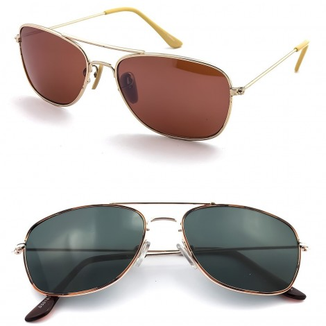 Sunglasses KISS® - mod. AIRCRAFT Size Small (S) - man woman VINTAGE style aviatore PILOT