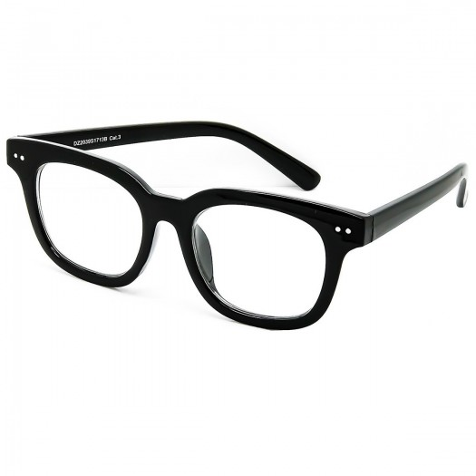 Neutral glasses KISS® - MOSCOT style mod. BOXER - man woman VINTAGE optical frame FASHION