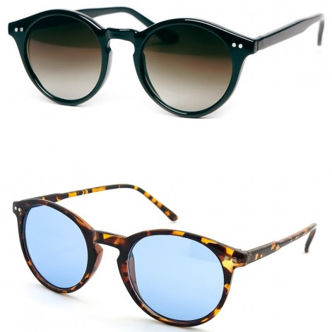 Sunglasses KISS® - style MOSCOT mod. WAVE Johnny Depp - the Cult VINTAGE Light man woman ROUND unisex