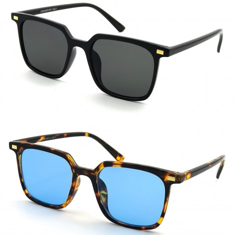Gafas de sol KISS® - Fashion mod. HALL - hombre mujer HIPSTER square iron man VINTAGE