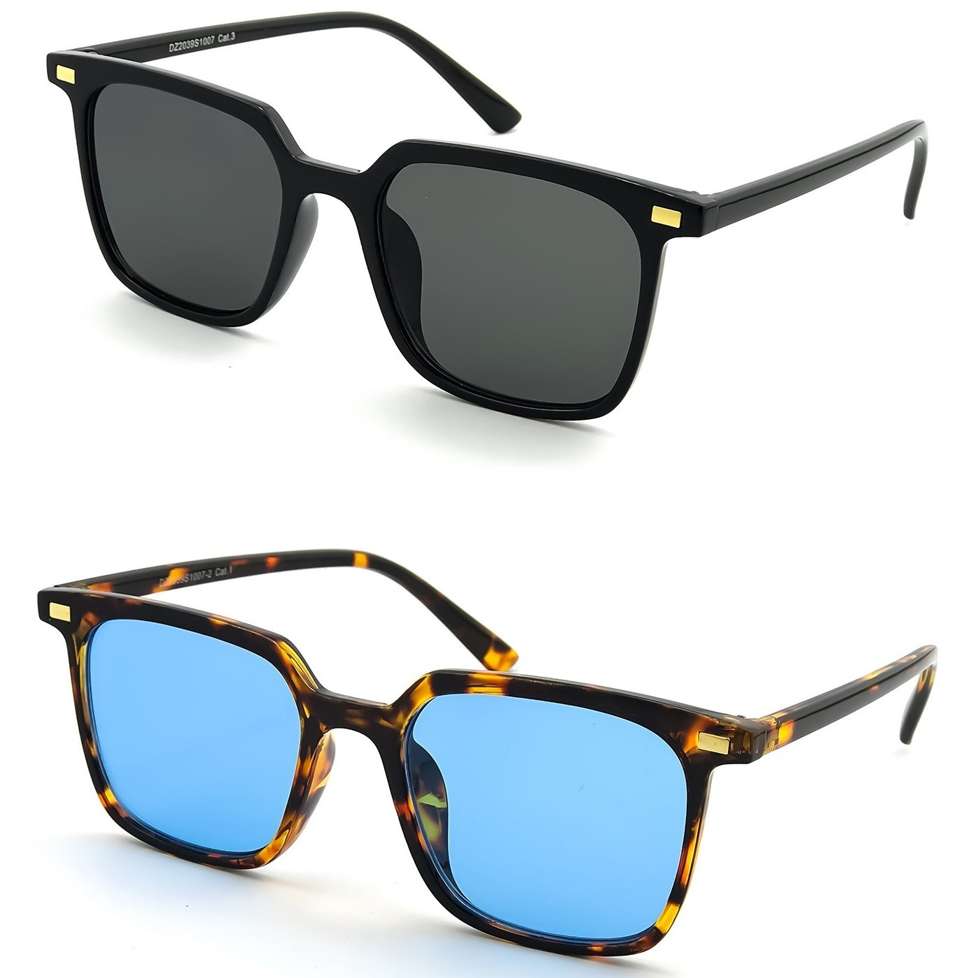 Sonnenbrille KISS® - Fashion mod. HALL - mann frau HIPSTER square iron man VINTAGE