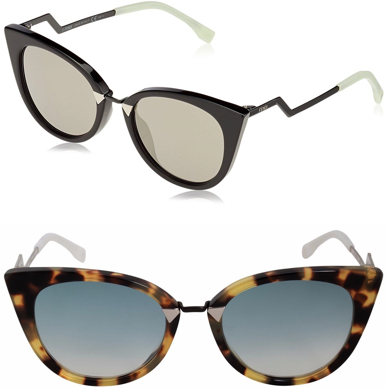 Sunglasses FENDI® - FF 0118/S mod. ORCHIDEA - luxury vintage WOMAN CAT EYE fashion, extravagant HIGH FASHION
