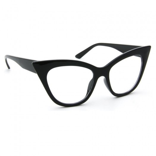 Glasses neutral KISS® - CAT EYE mod. THICK NIKITA - optical frame WOMAN vintage rockabilly