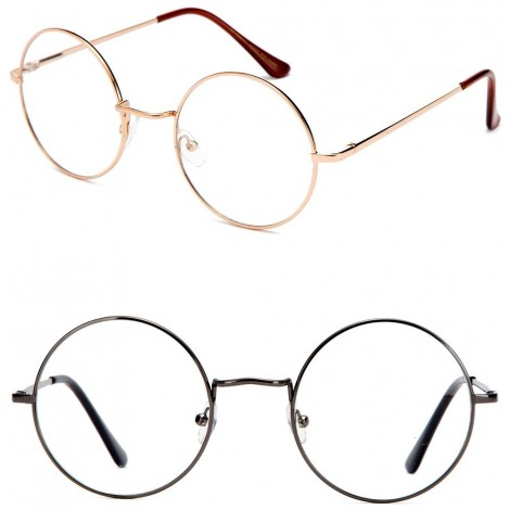 Glasses neutral Hippie - mod. TEASHADES John Lennon - optical frames ROUND men women VINTAGE