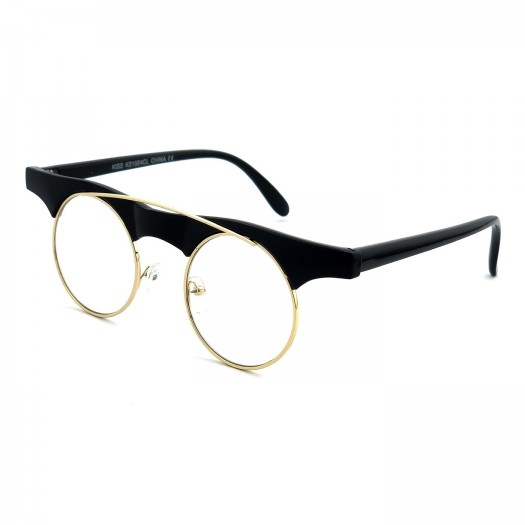 Gafas neutrales KISS® - mod. Reckless Steampunk - mujer mujer MUJER VINTAGE extravagante marco de ojo fashion