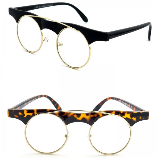 Glasses neutral KISS® - mod. RECKLESS Steampunk - man woman VINTAGE optical frame FASHION extravagant
