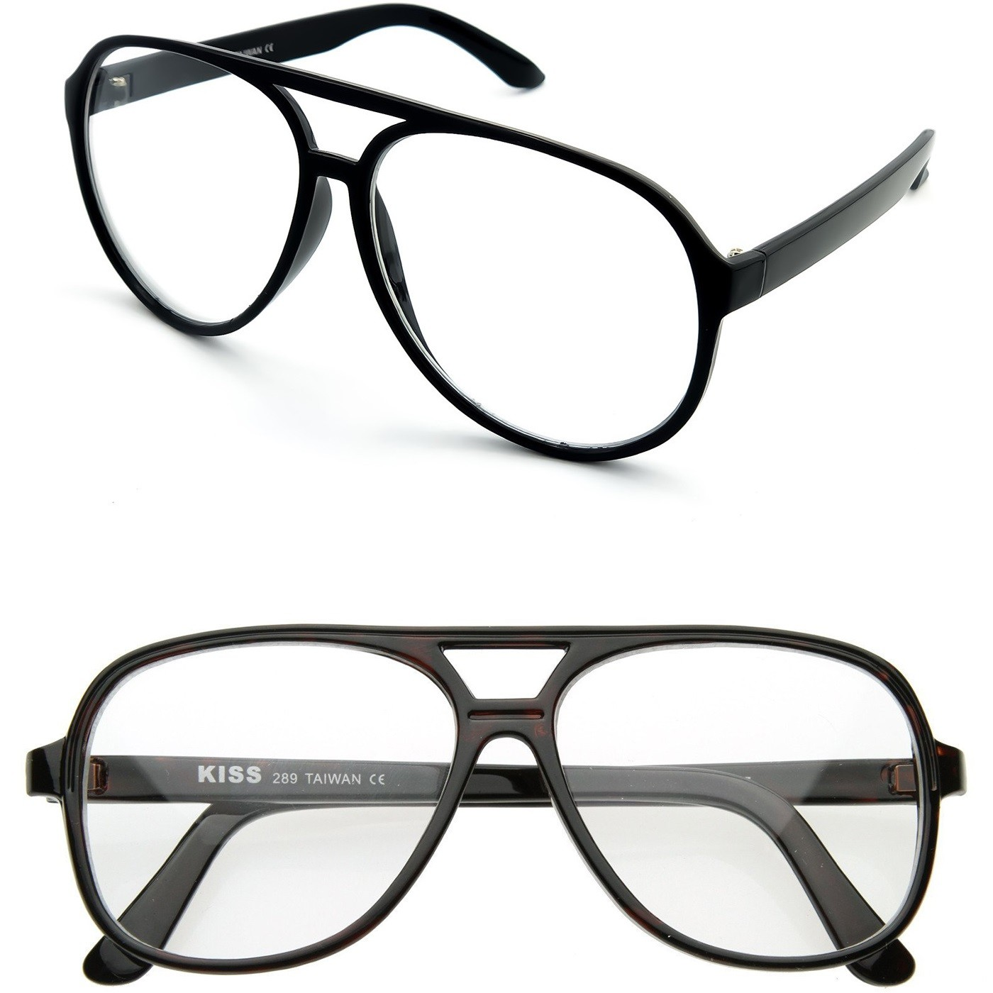 Glasses neutral KISS® - Vintage mod. BLOW - optical frame CULT MOVIE man woman JOHNNY DEPP aviator style