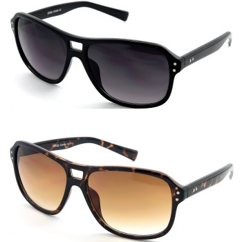 Sunglasses KISS® - mod. FINE BLOW Aviator style - man woman STYLISH fashion cult VINTAGE