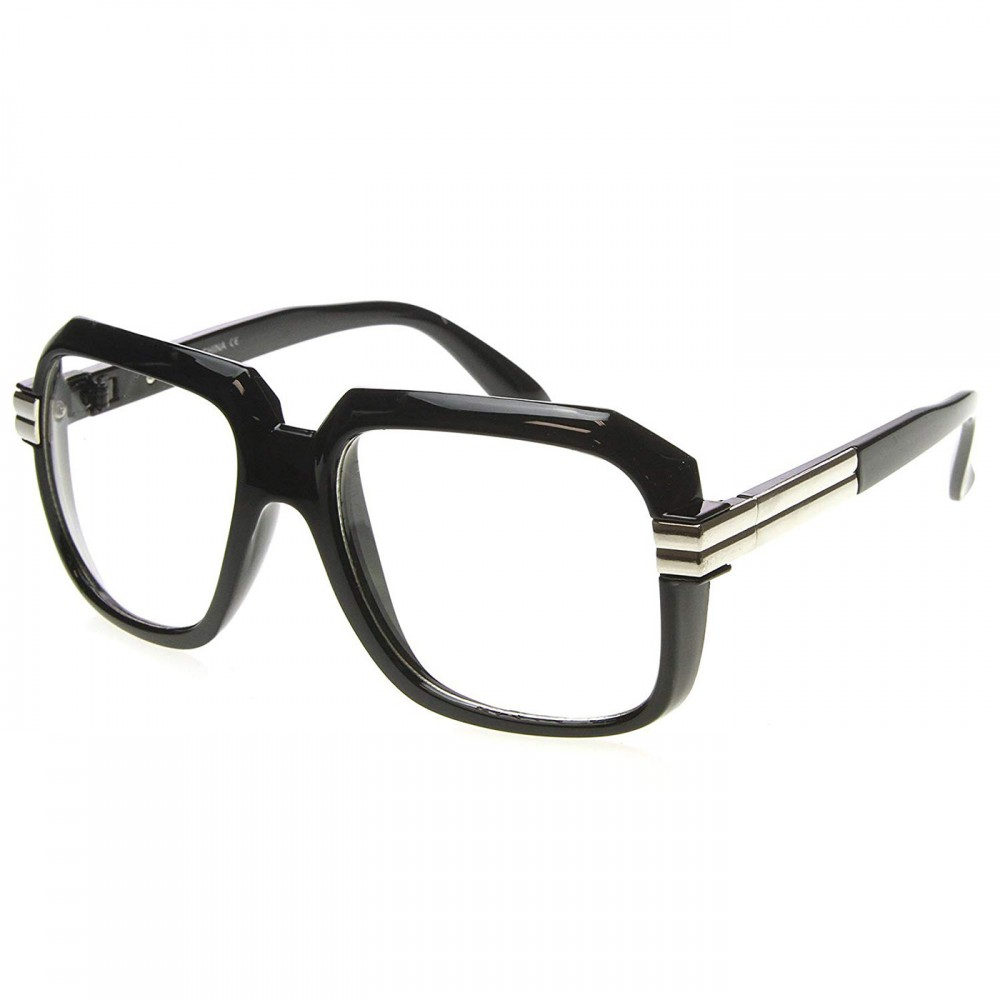 Neutral glasses KISS® - OLD SCHOOL mod. RUN-DMC - optical frame VINTAGE man woman HIP-HOP