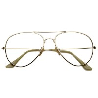 Glasses neutral KISS® - mod. AIR FORCE 1 style Aviatore - optical frame CULT TO DROP men's and women VINTAGE