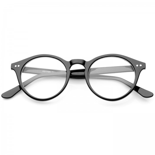 Neutral glasses KISS® - mod. WAVE style Johnny Depp - optical frame Light RETRO man woman unisex