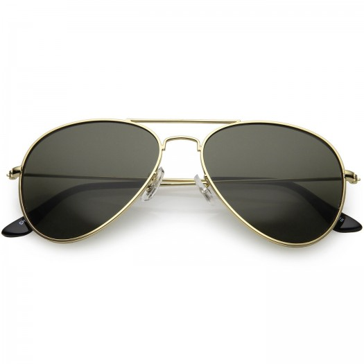 KISS sunglasses® - mod. AIR FORCE 1 Aviator style - woman man A GOCCIA vintage unisex EVERGREEN