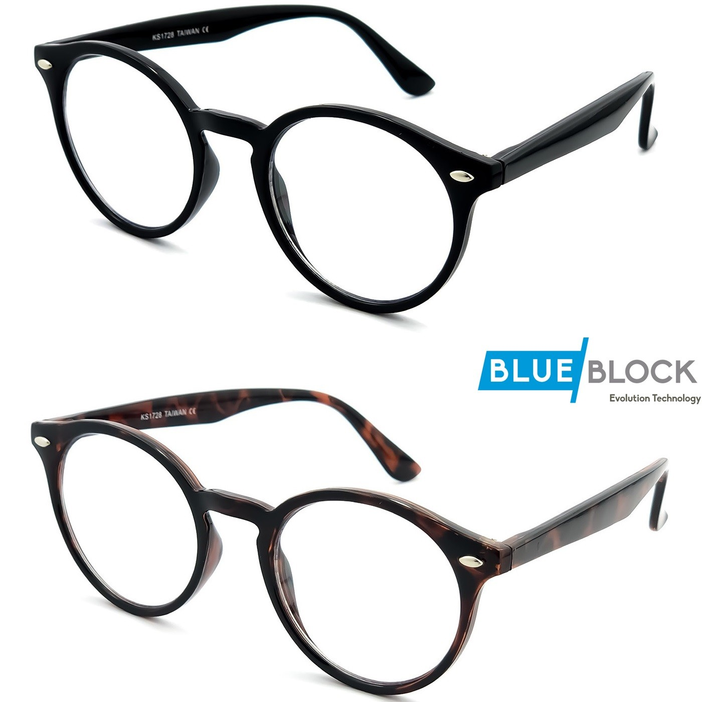 COMPUTER neutral glasses KISS® - style MOSCOT mod. WAVE ICONIC - PROTECTIVE LENSES FOR PC, TV, SMARTPHONE, GAMING - Filter Bl...