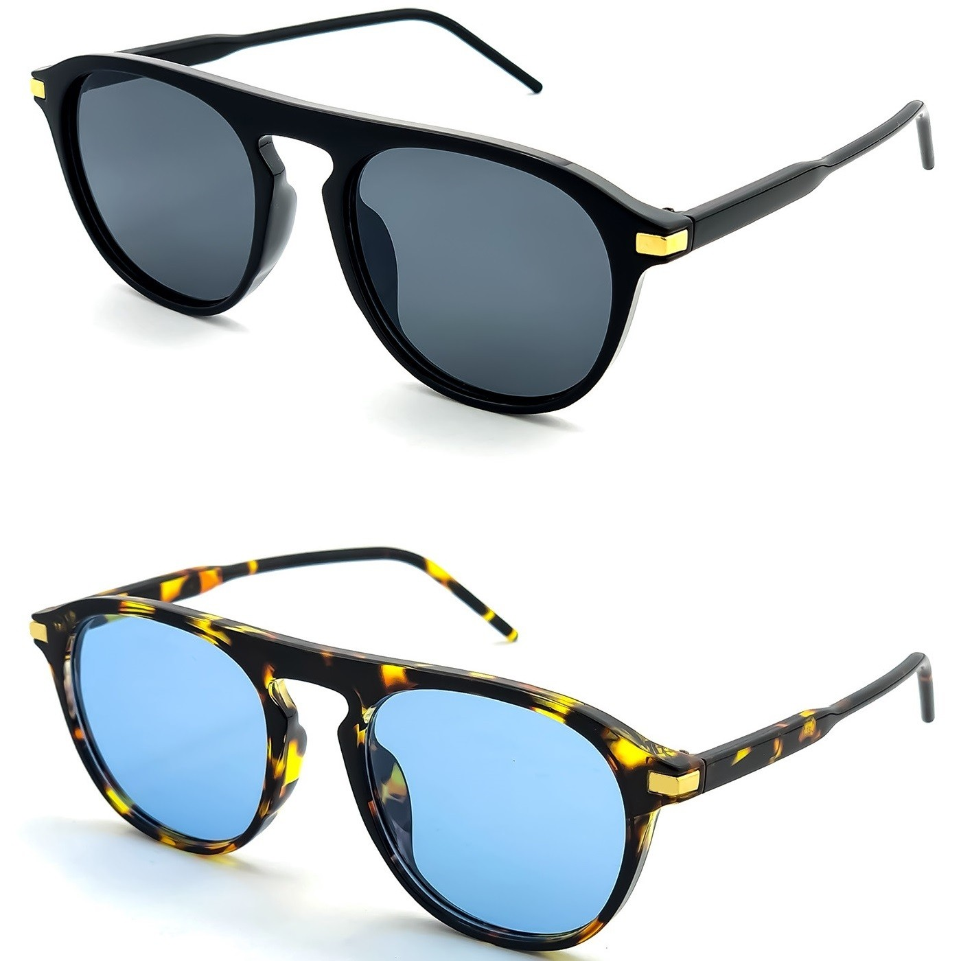 Sunglasses KISS® - Fashion mod. PHOENIX - man woman EXCLUSIVE vintage aviator COOL FLAT