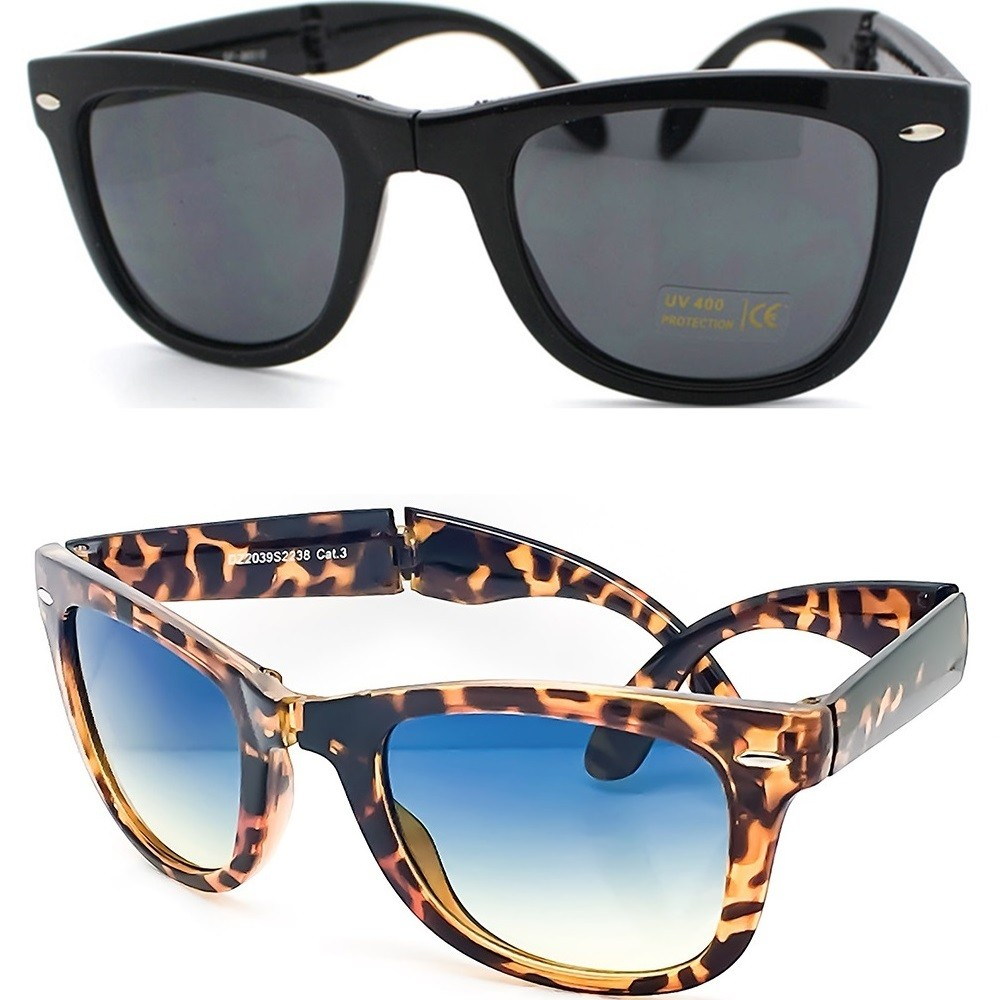 Gafas de sol KISS® - PLEGABLE mod. BLUES BROTHERS - hombre mujer VINTAGE cult movie unisex NERD
