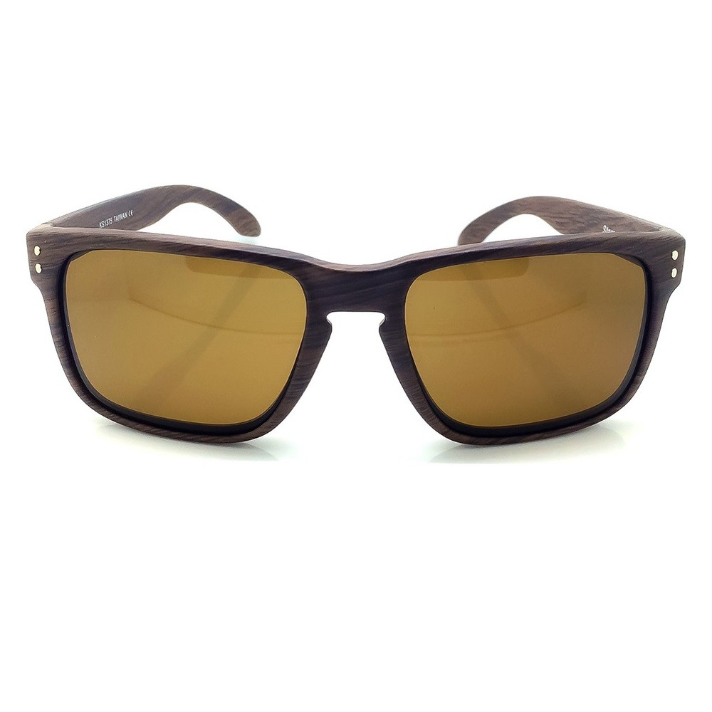 Sunglasses KISS® WOOD Line - mod. RACING FLAT Wood Effect - sporty cars and motorcycles for men and women