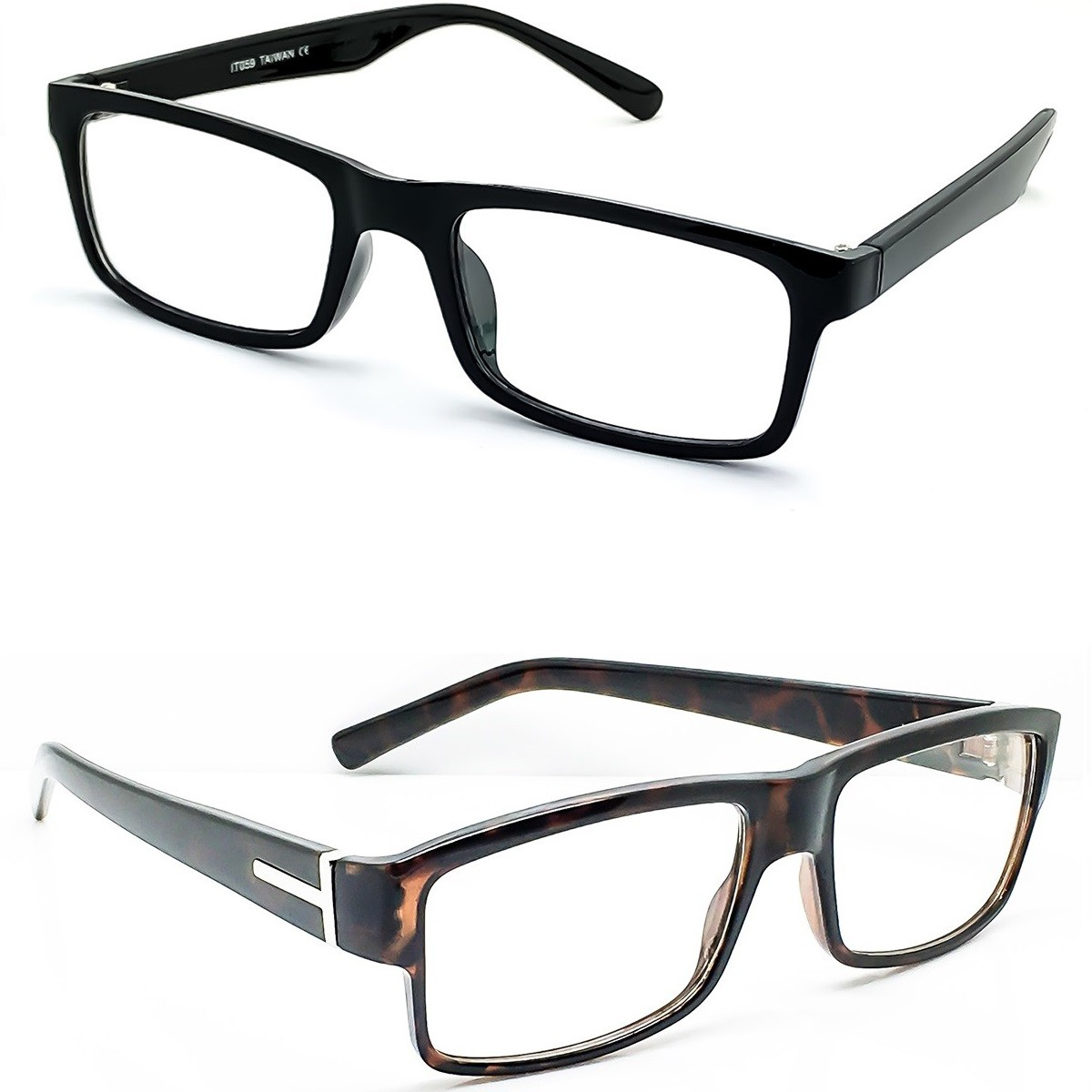 Glasses neutral KISS® - Square mod. TIGHT - optical frame VINTAGE man woman FLAT TOP