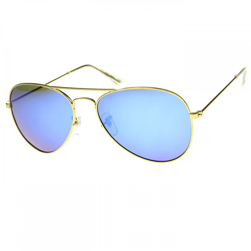 POLARIZED sunglasses KISS® - mod. AIR FORCE 1 Aviator style - men's and women MIRRORED the DROP vintage fashion