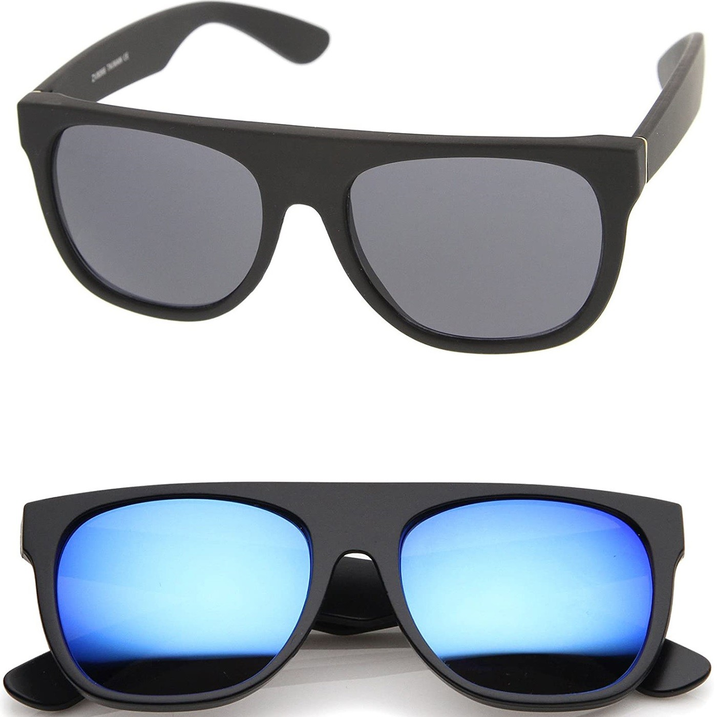 Sunglasses KISS® - mod. LOUNGE SUPER - man woman HIP-HOP rapper vintage FLAT TOP