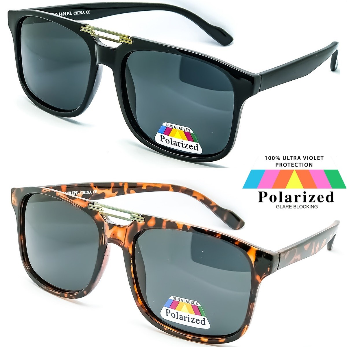 Occhiali da sole POLARIZZATI KISS® - mod. MCQUEEN 'CULT V1' - uomo donna MOVIE STAR stile aviatore VINTAGE