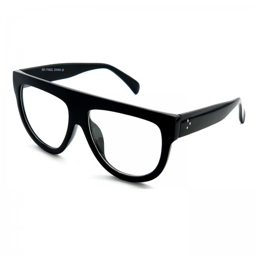 Neutral glasses KISS® - Flat Top mod. CRAZY HORNY - optical frame WOMAN oversize vintage YEARS '50 '60