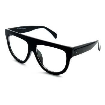 Gafas neutrales KISS® - Flat Top mod. CRAZY HORNY - marco óptico MUJER oversize vintage YEARS '50 '60