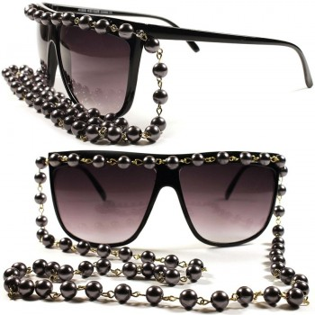 Gafas de sol KISS® - mod. COLLAR de PERLAS - mujer extravagante VINTAGE limited fashion SUPERB