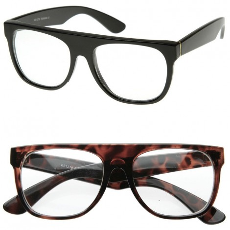 Glasses neutral KISS® - style SUPER Flat Top RAPPER - optical frame, VINTAGE man woman unisex